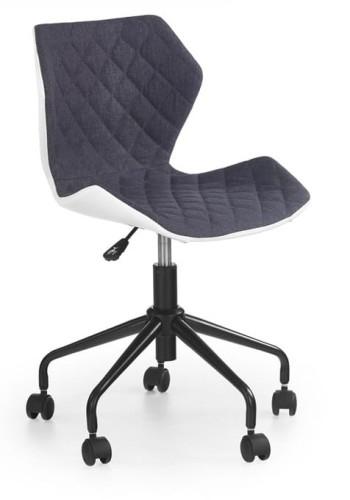 Krzesło obrotowe ucznia młodzieżowe szare