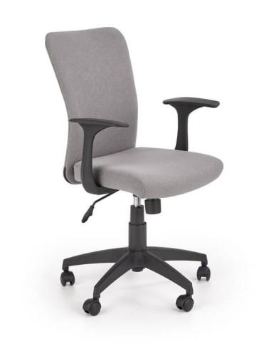 Fotel biurowy, obrotowe krzesło młodzieżowe szare