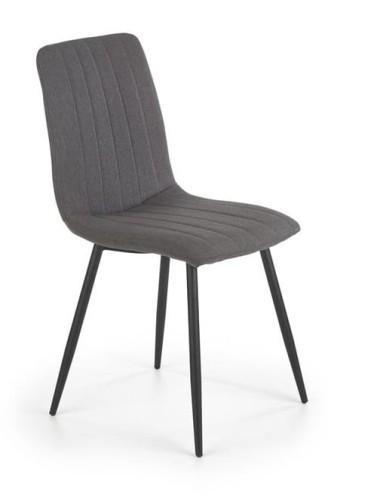 Industrialne krzesło tapicerowane szare jadalnia