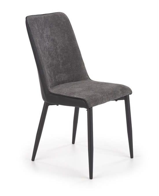 Proste szare krzesło do jadalni, salonu loft