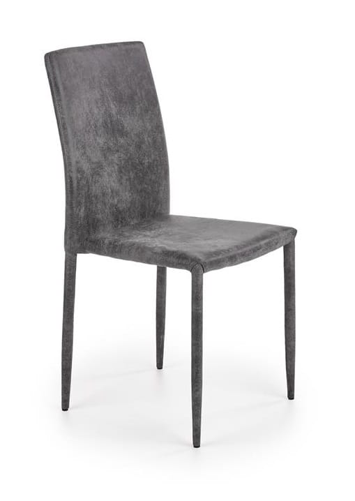 Nowoczesne szare krzesło loft do jadalni ekoskóra